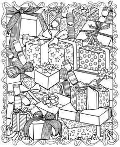зимние раскраски антистресс подарки