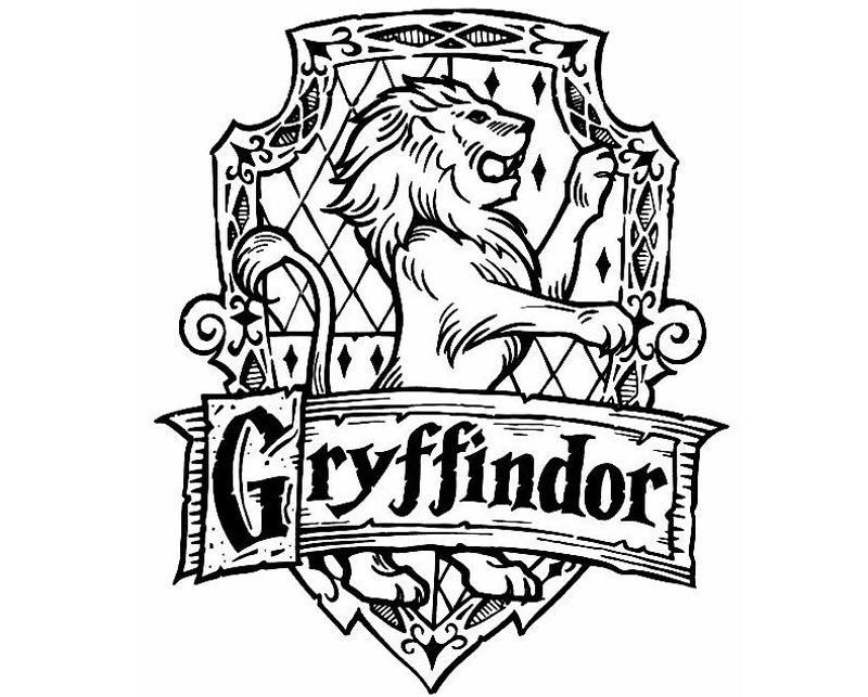 герб гриффиндора раскраска