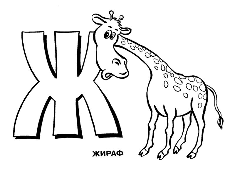 Раскраска буква Ж