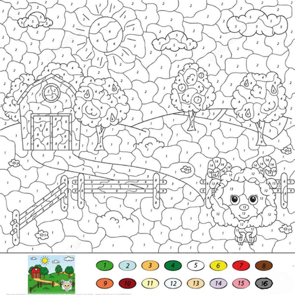 раскраска по номерам красками