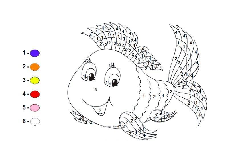 раскраска по цифрам для детей