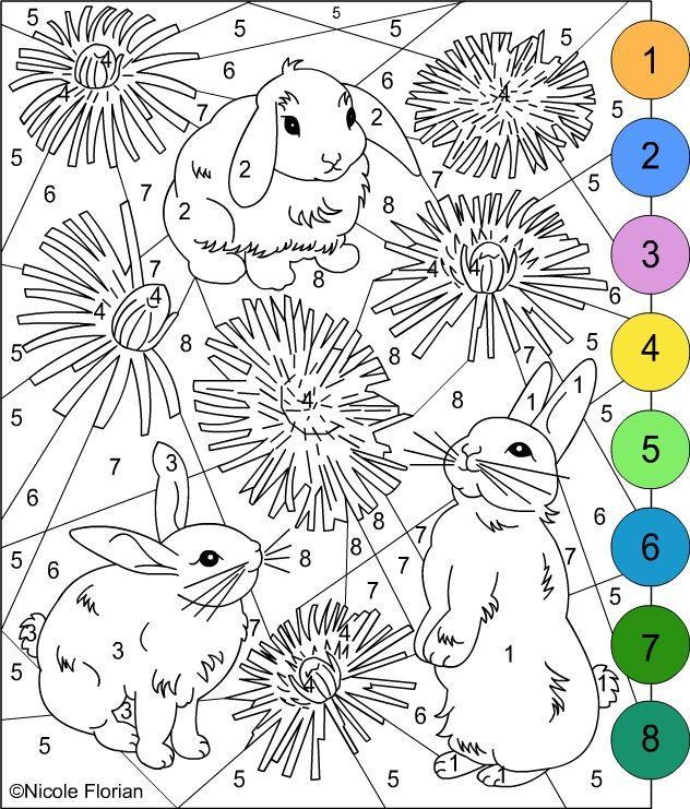 раскраски по номерам для девочек 10 лет