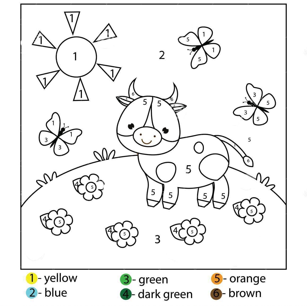 раскраски по номерам для дошкольников