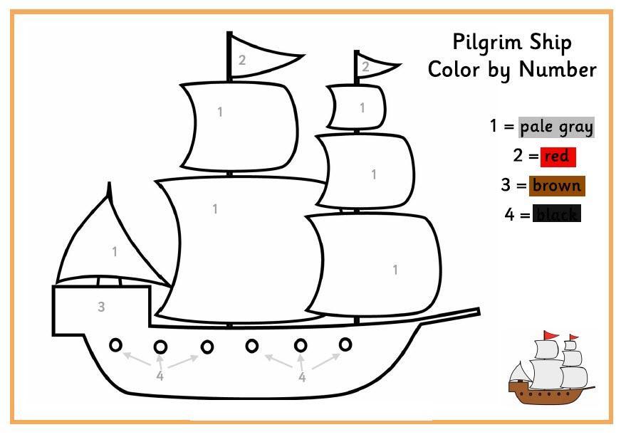 раскраски по номерам корабли