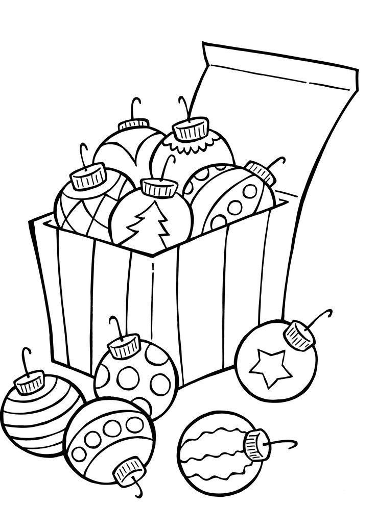 раскраска новогодние шары для детей распечатать