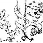 раскраска Буратино убегает от Карабаса