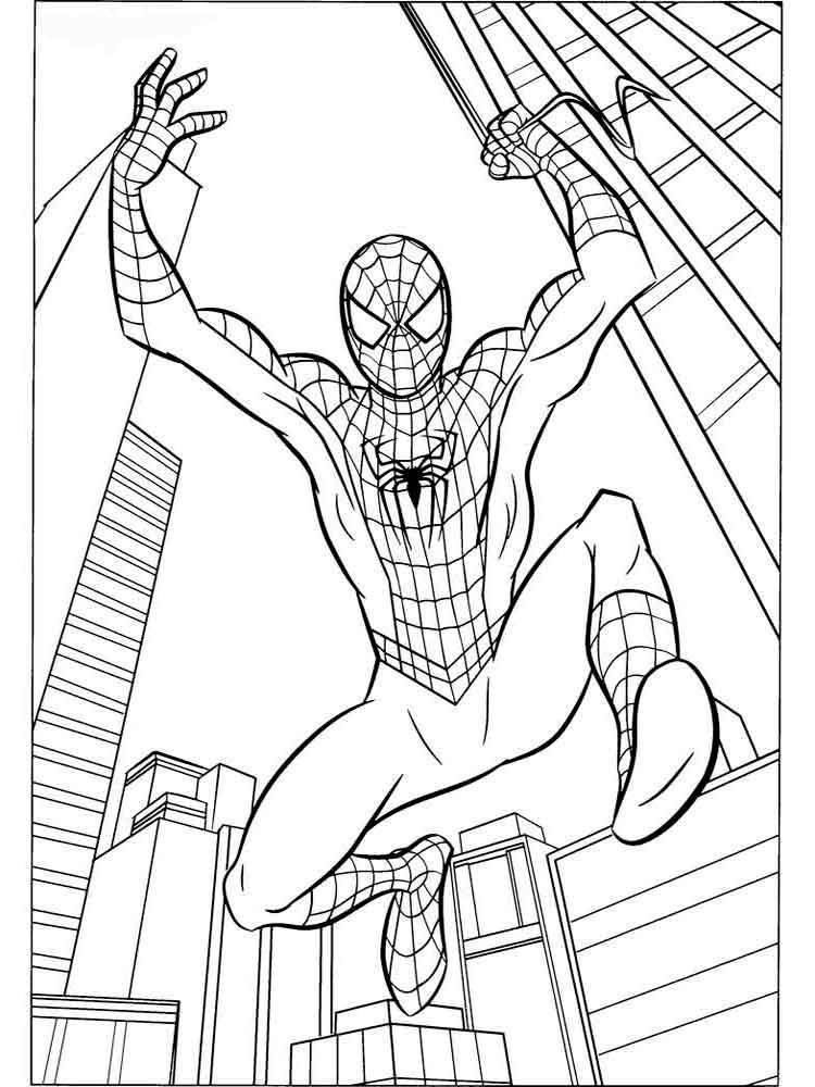 Человек паук раскраска в хорошем качестве
