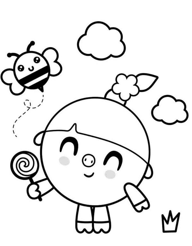 Детские раскраски Малышарики