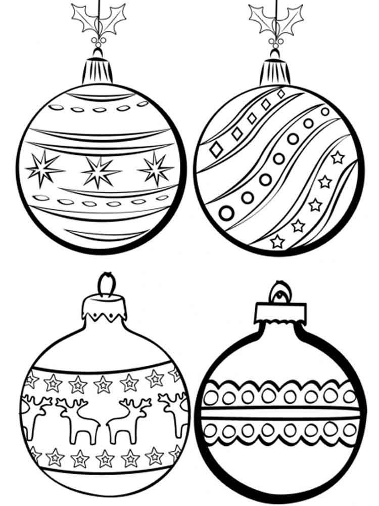иллюстрации новогодних игрушек раскраски