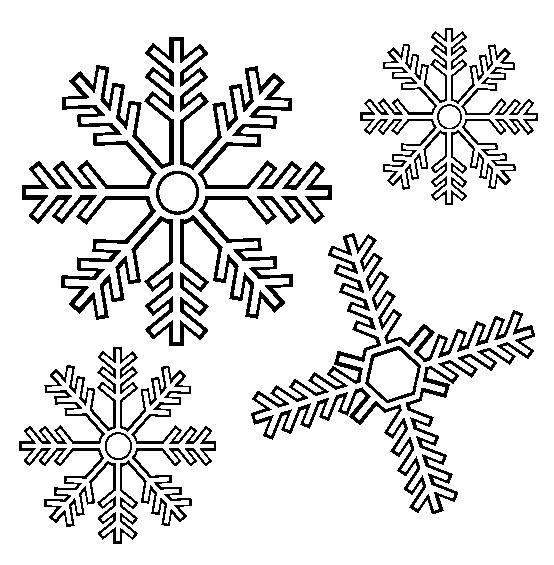 картинка снежинка раскраска для детей