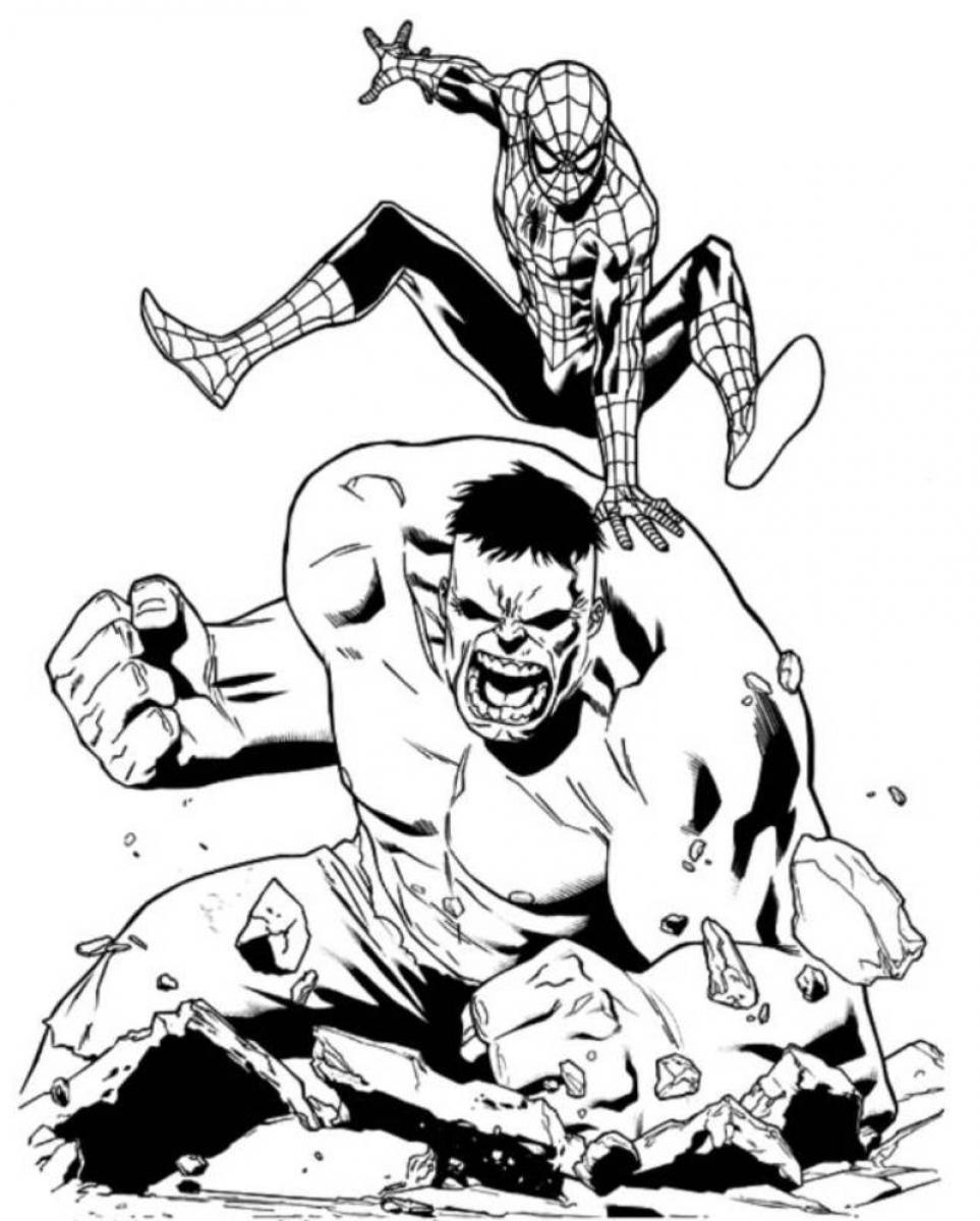 Халк и человек паук
