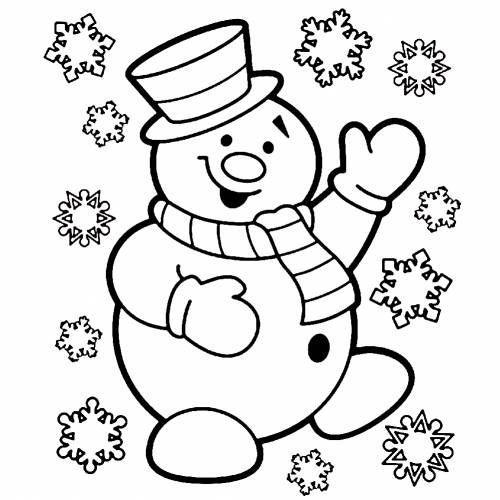 копилка раскраска снеговик