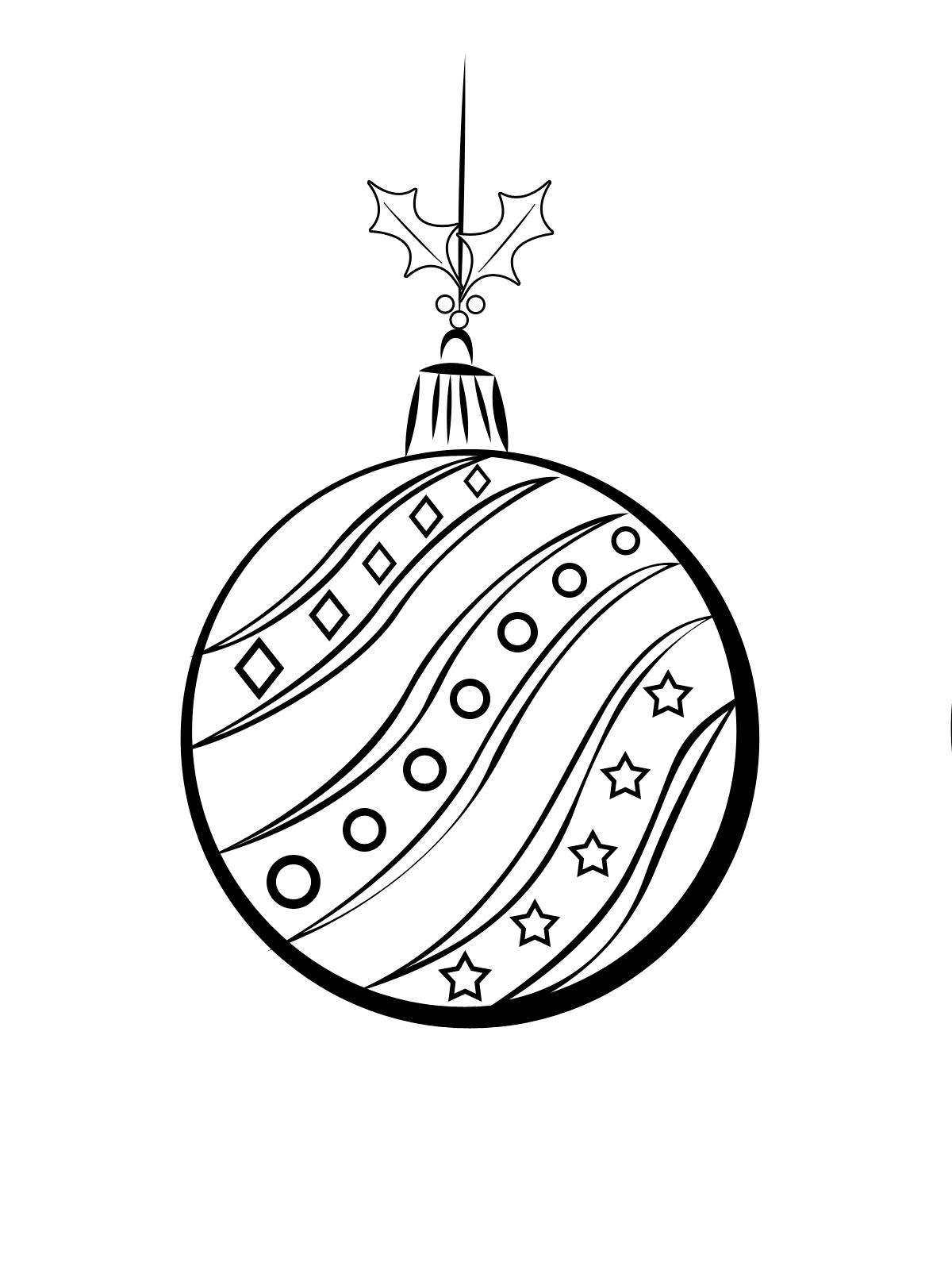 красивая раскраска новогоднего шара