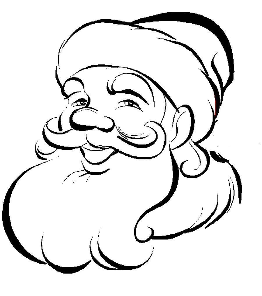 Лицо Деда Мороза раскраска