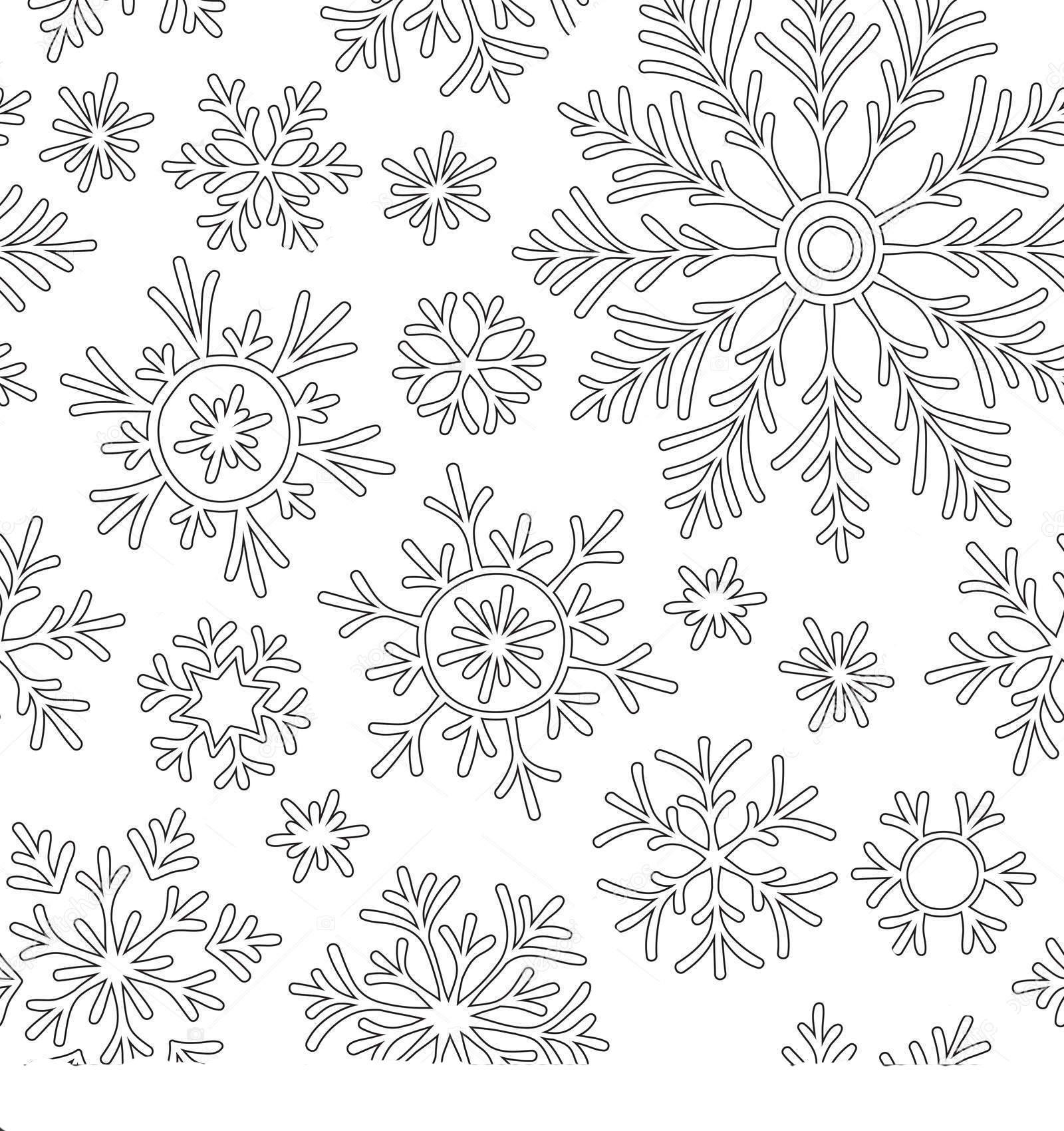 мандала снежинка раскраска