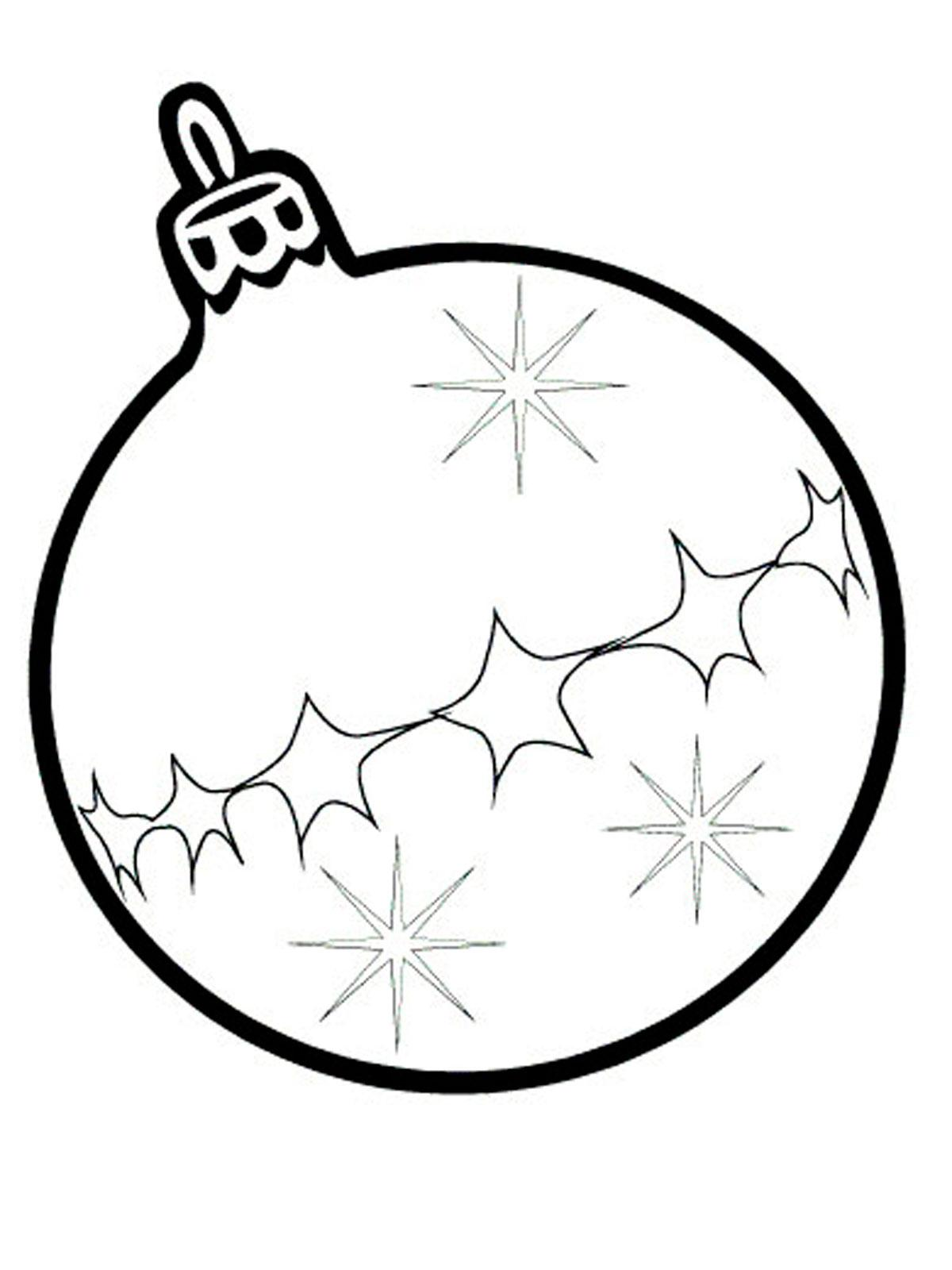 новогодний шар под раскраску