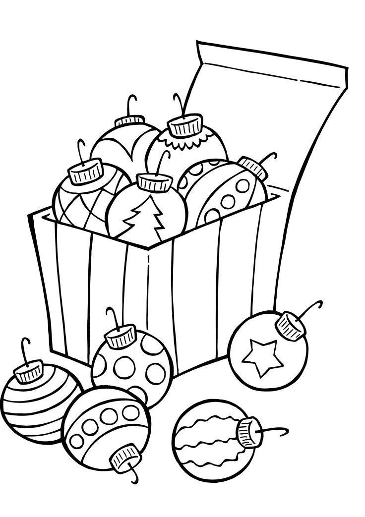 новогодние шары раскраска для детей