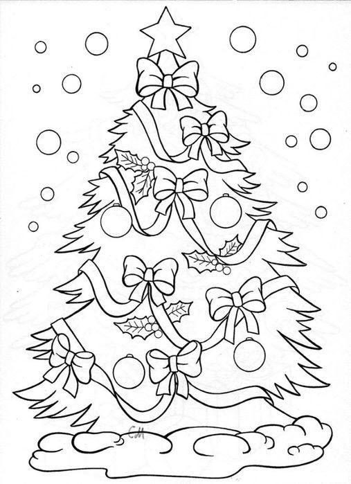 Раскраска елка новогодняя распечатать бесплатно