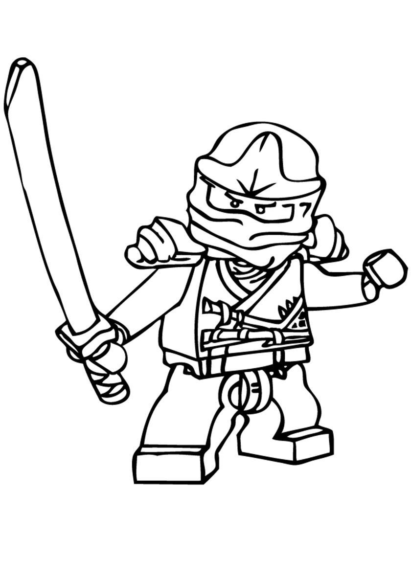 Распечатать раскраску Лего Ниндзяго бесплатно