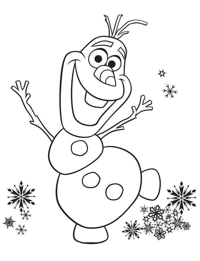 олаф снеговик раскраска