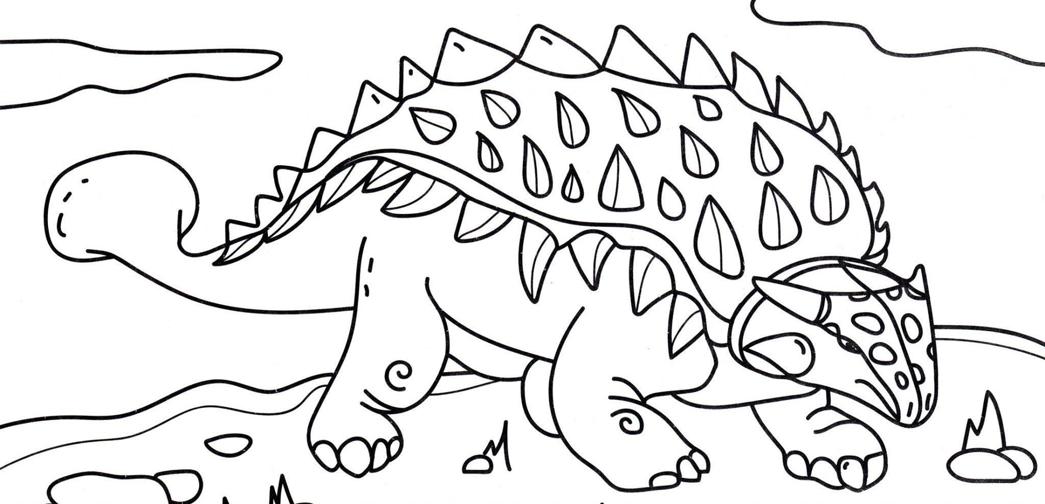 раскраска динозавр анкилозавр