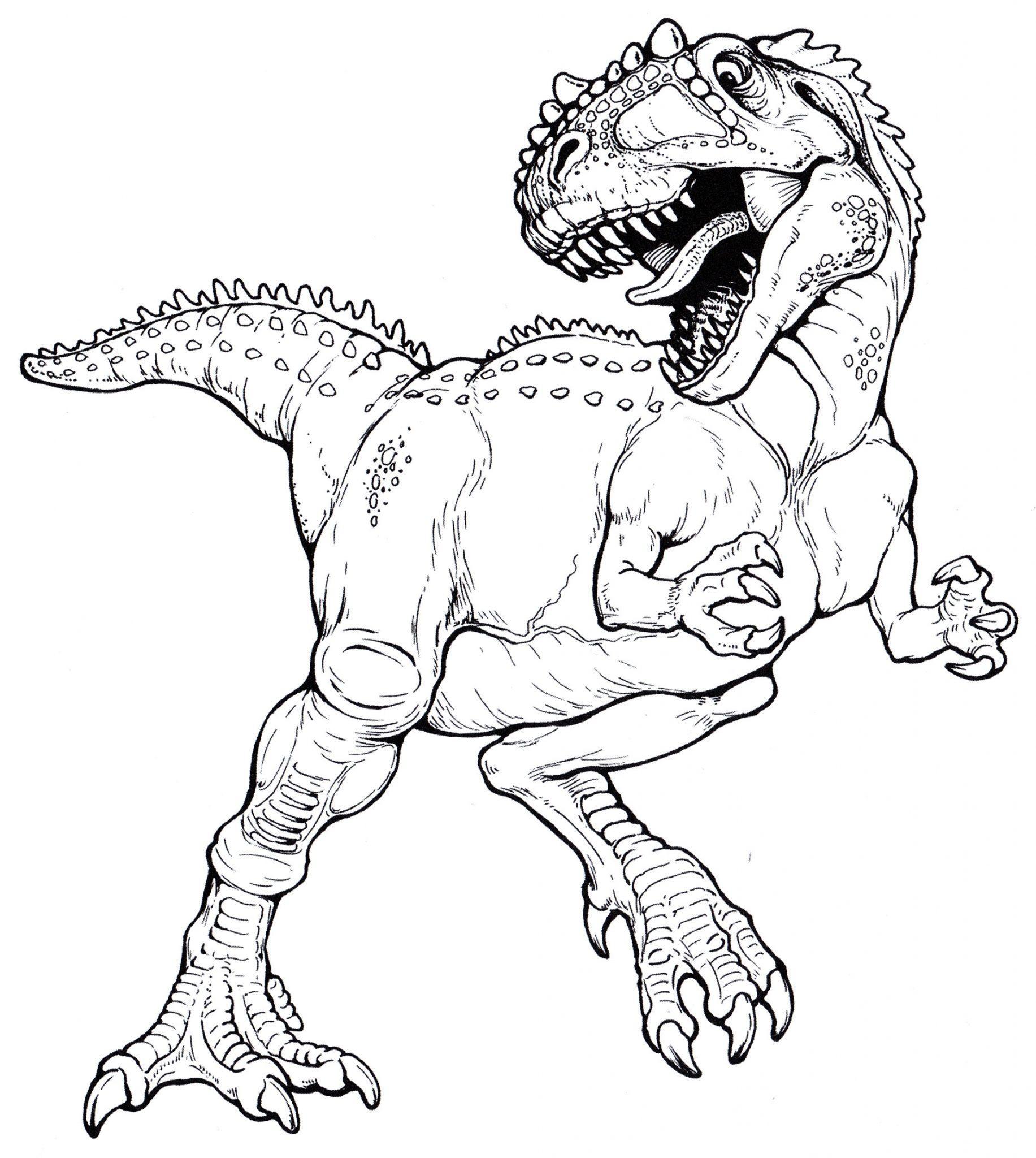 раскраска динозавр гигантозавр