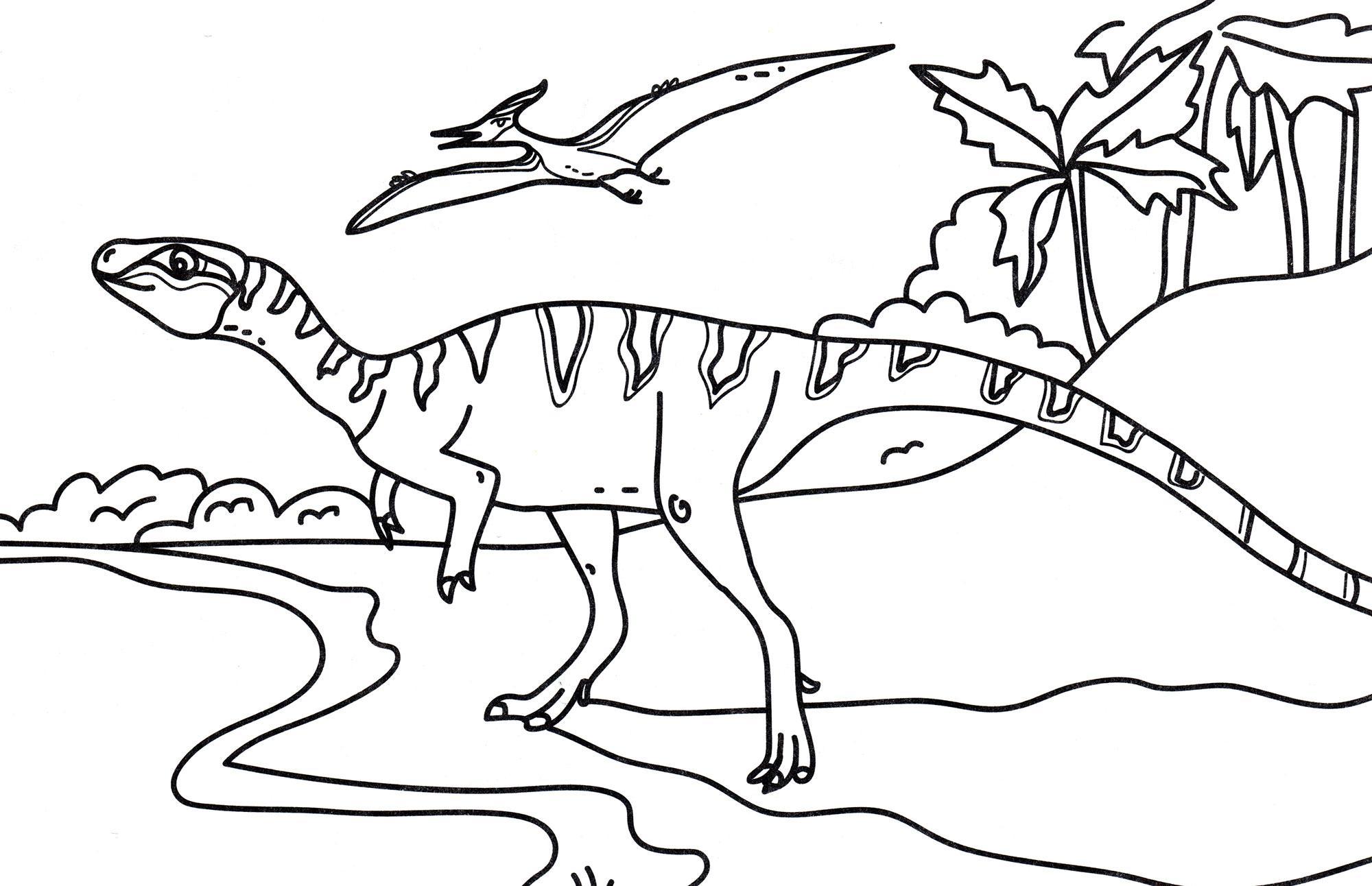 раскраска динозавр кархародонтозавр