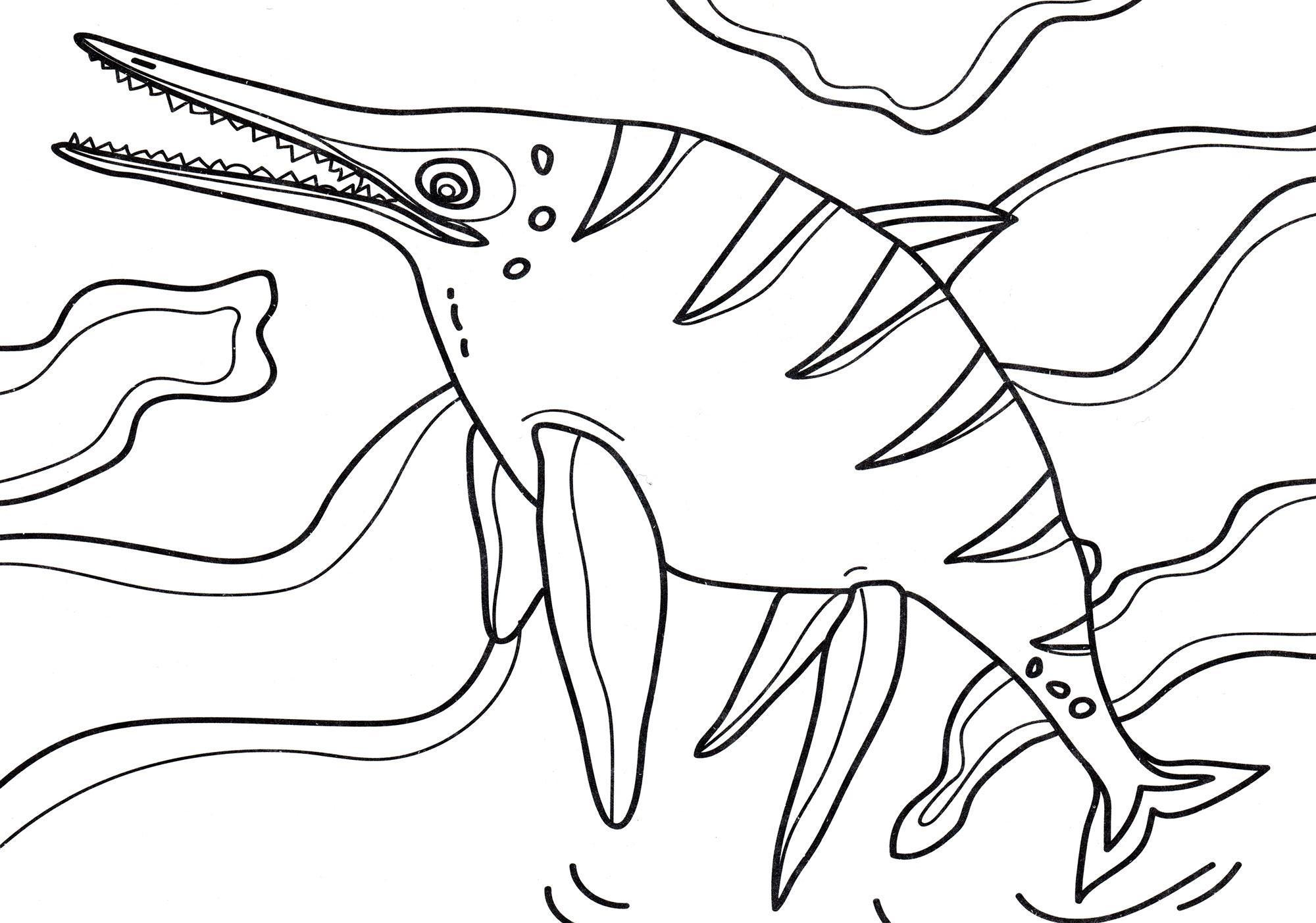 раскраска динозавр шонизавр