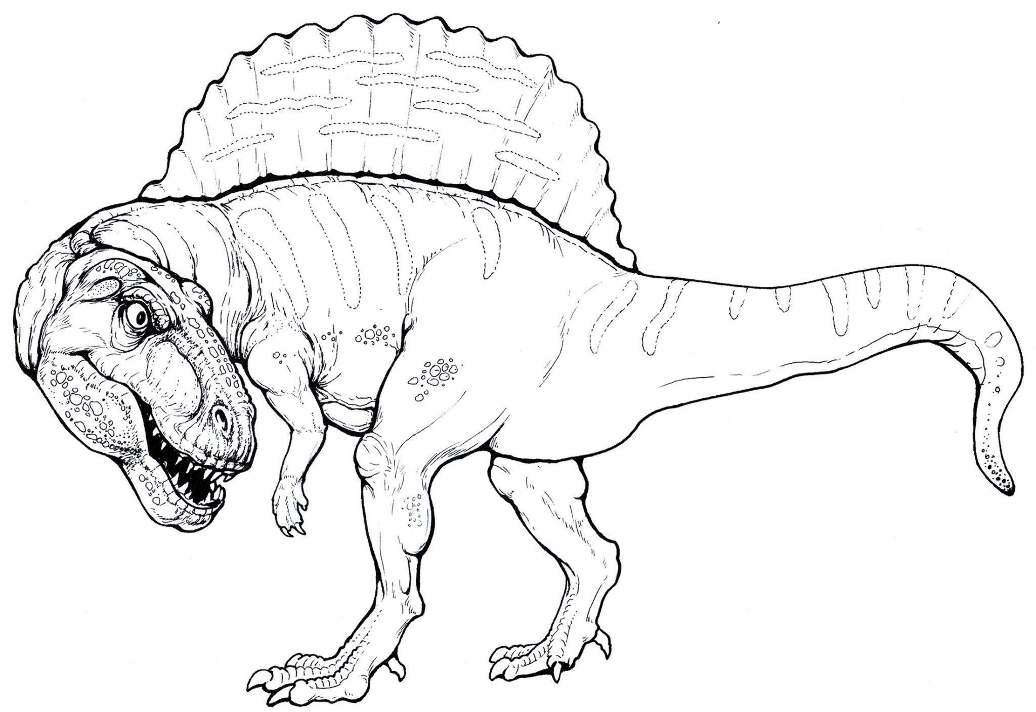 раскраска динозавр спинозавр