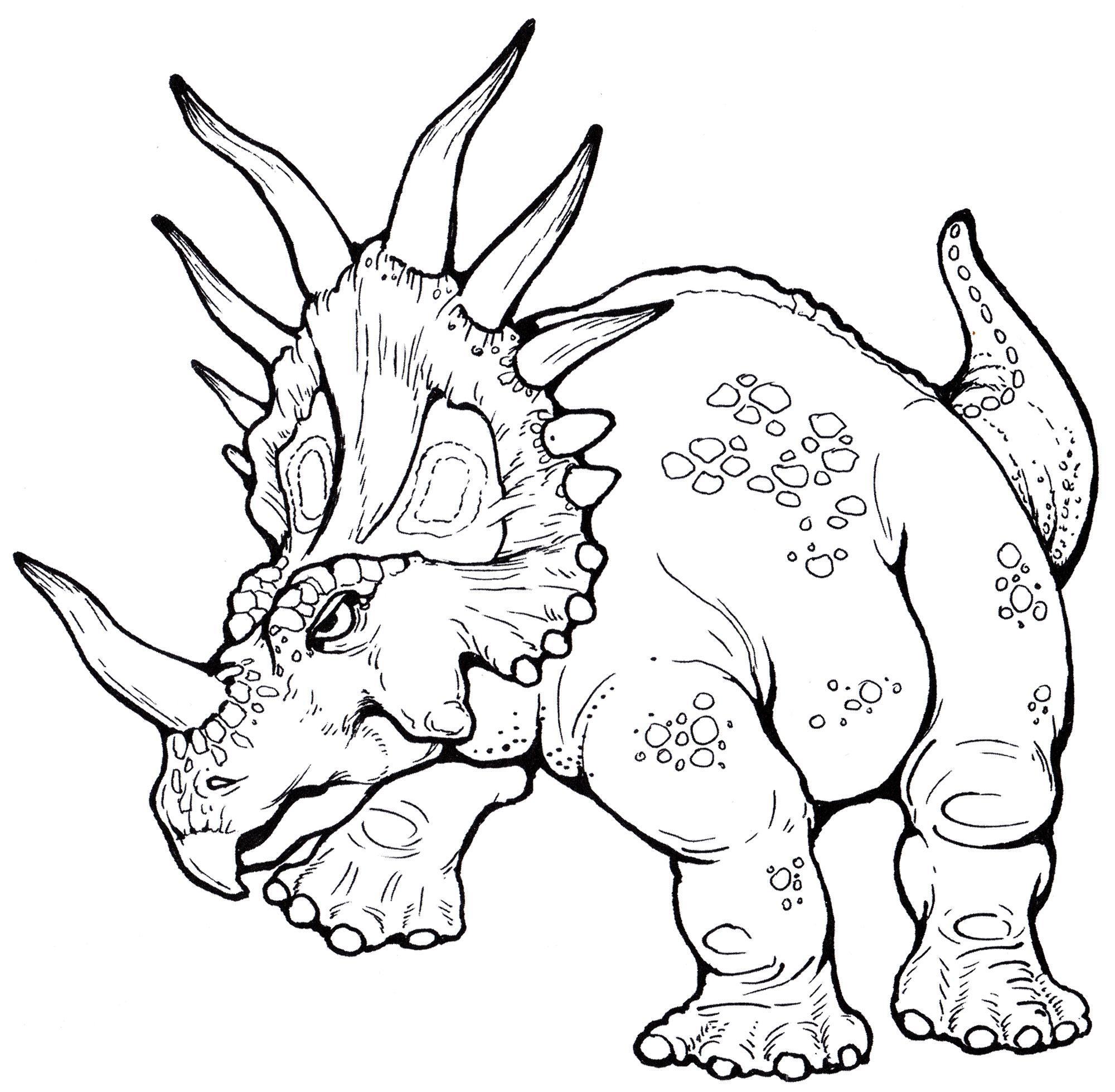раскраска динозавр стиракозавр