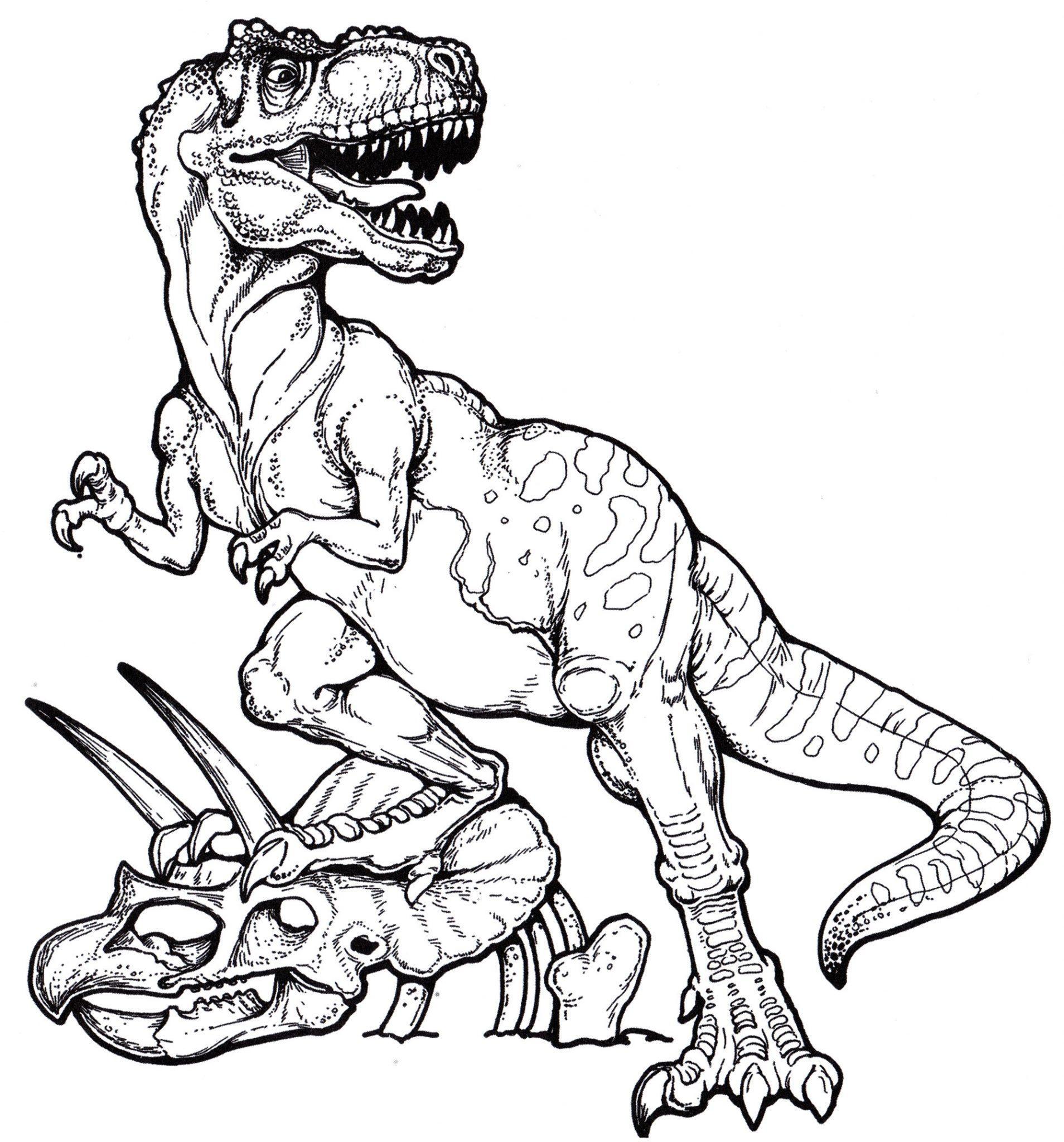 раскраска динозавр тиранозавр