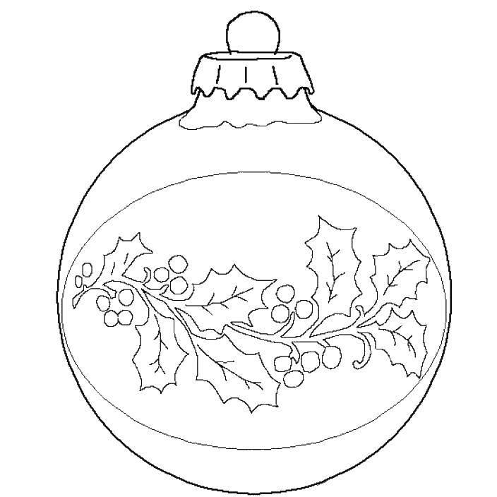 раскраска новогодний шар с узорами