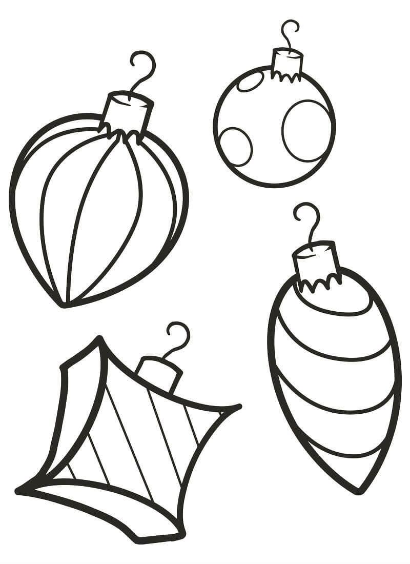 раскраска новогодние шары на елку