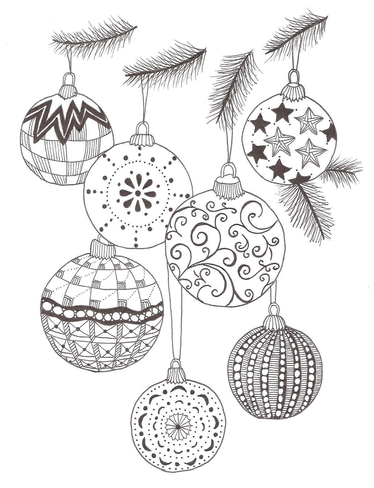 раскраска новогодние шары разных размеров мелкие большие