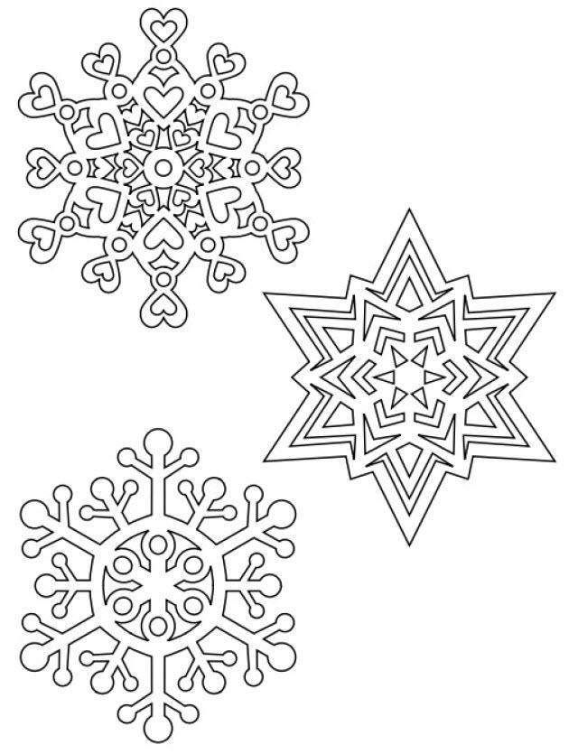 раскраска новогодняя снежинка распечатать