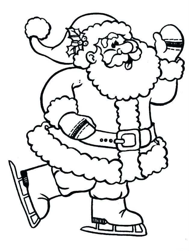 раскраска санта клаус катается на коньках