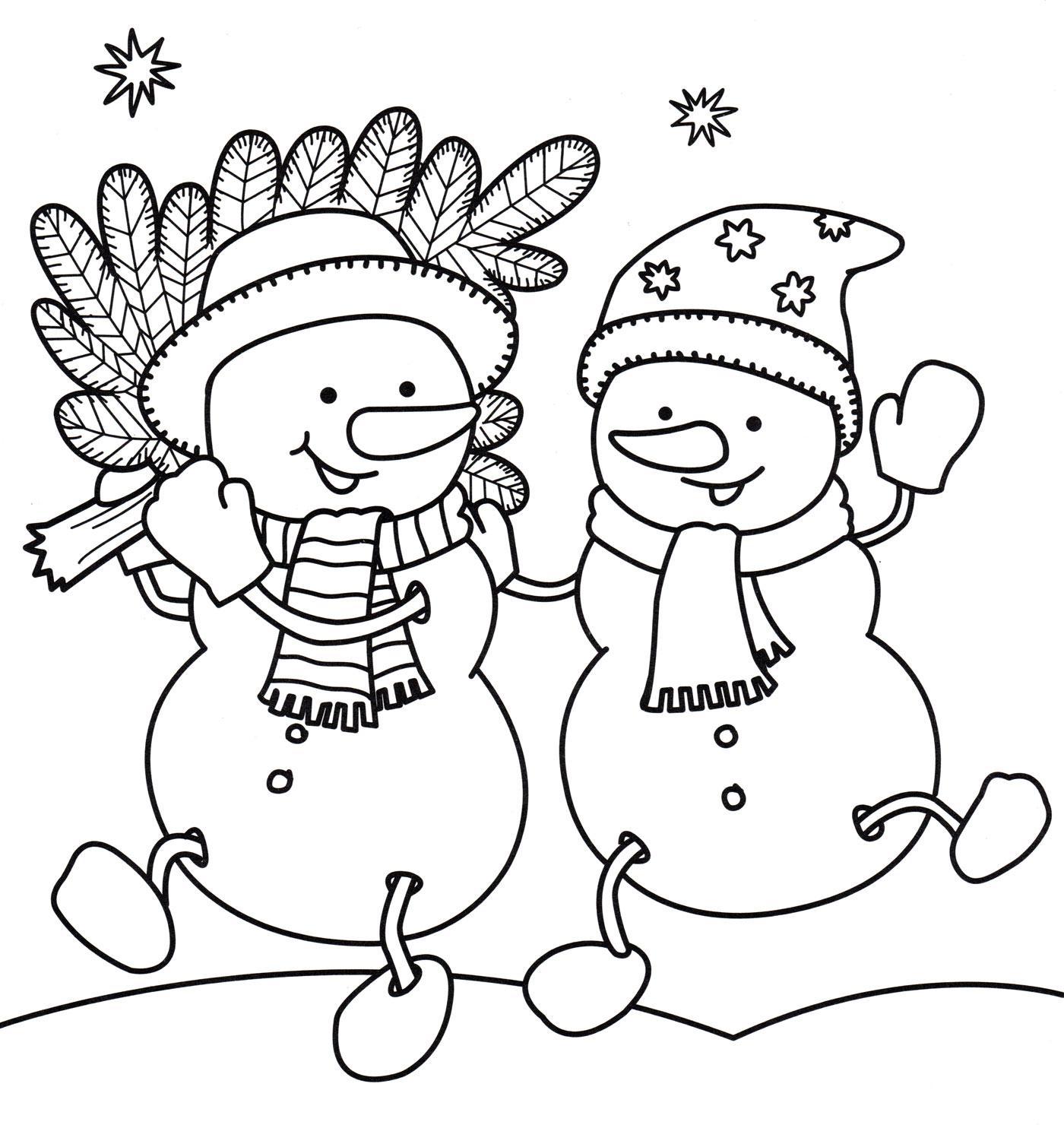 раскраска снеговика для дошкольников