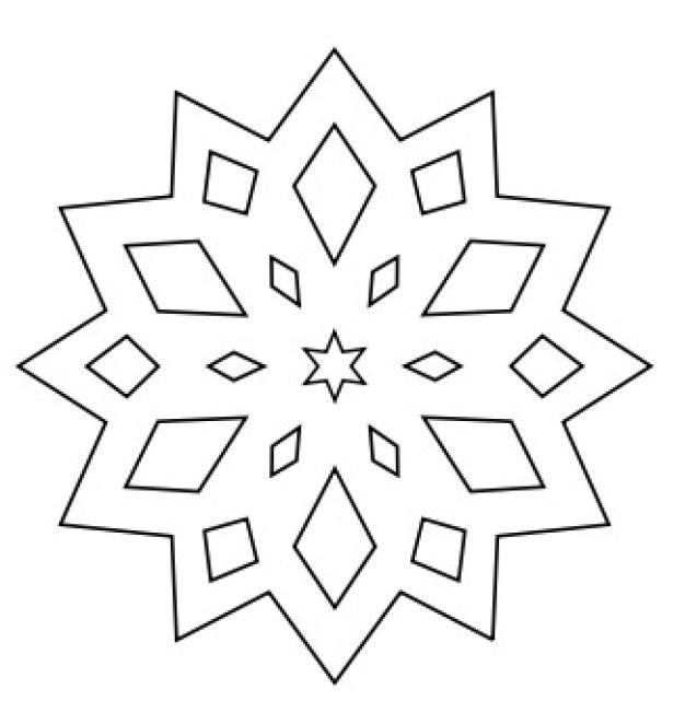 раскраска снежинка для детей 3 4 лет