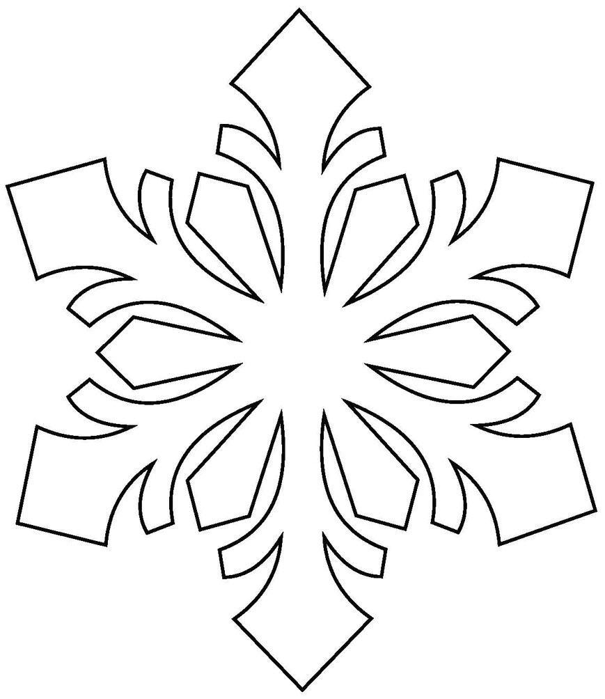 раскраска снежинки для детей 2 3 лет