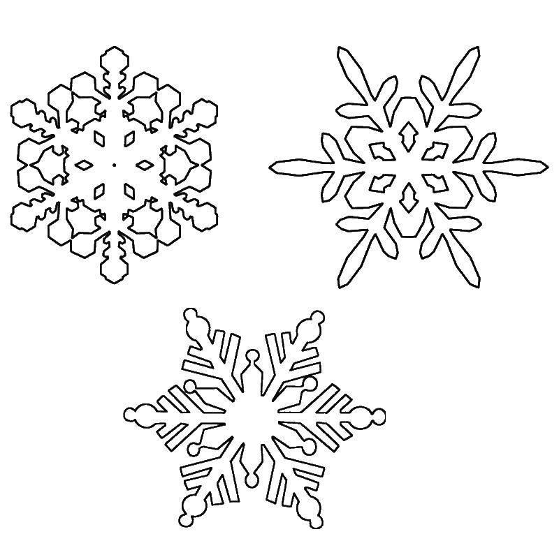 раскраска снежинки для детей 4 5 лет