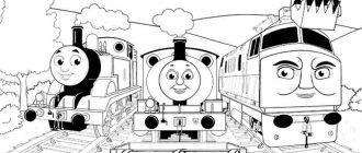 Раскраска Томас и его друзья распечатать