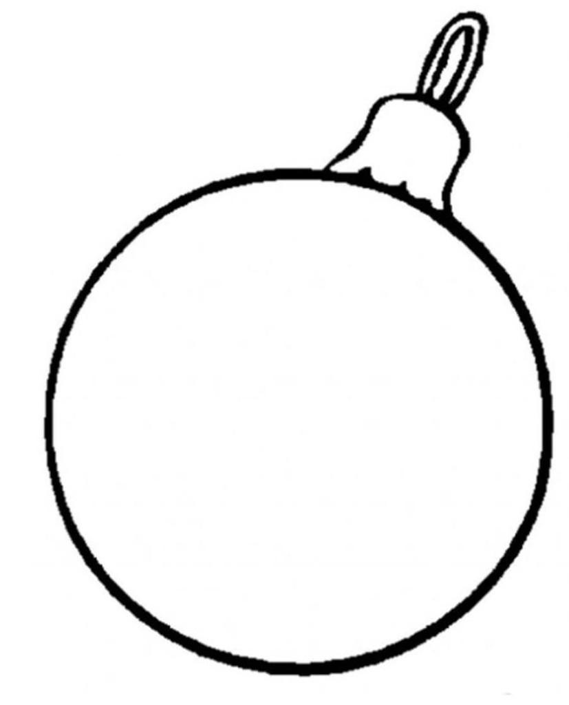 Раскраска новогодние шары