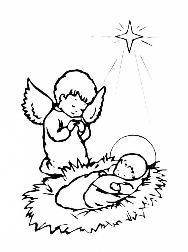 раскраски на тему рождество христово