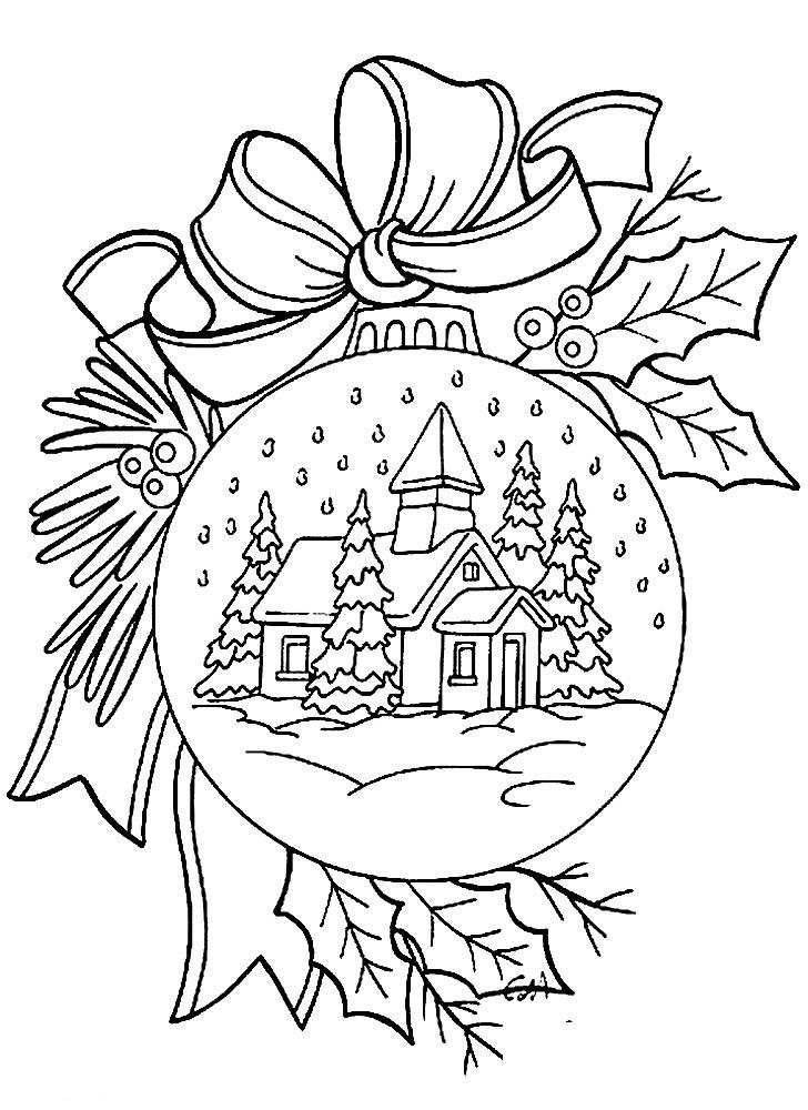 раскраски новогодние игрушки на елку бесплатно
