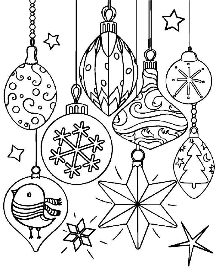 раскраски новогодние игрушки распечатать бесплатно