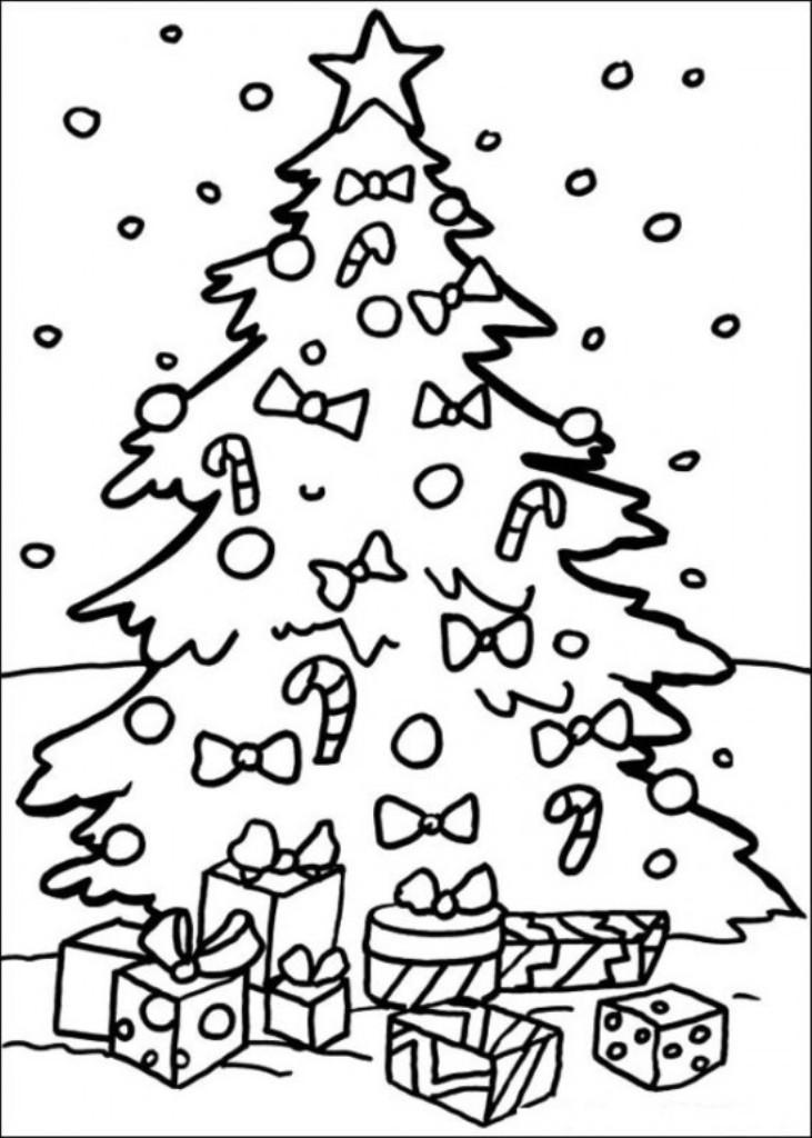 Раскраски новогодние подарки распечатать бесплатно