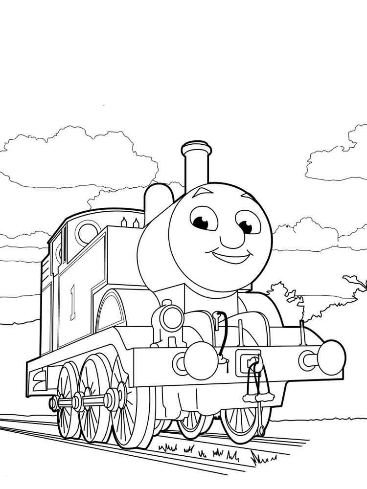 Раскраски паровозик Томас