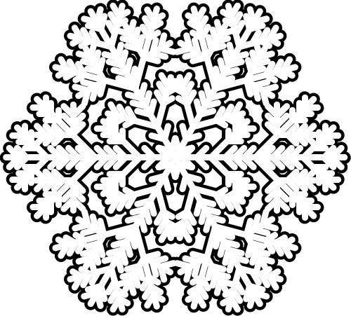 раскраски про снежинки