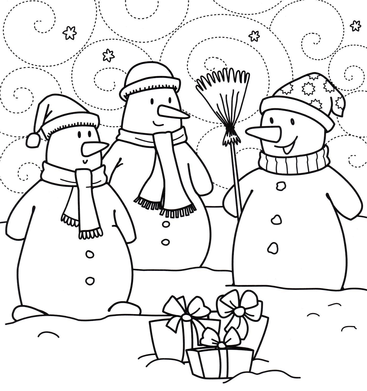 раскраски снеговик распечатать бесплатно формат а4