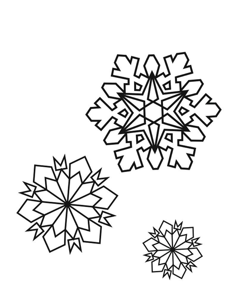 раскраски снежинки для детей 6 7 лет